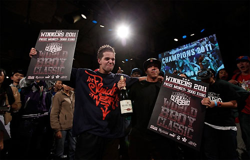Hurricane Ray and El Nino World BBoy Classic 2011 winners