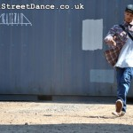 UK BBoy Championships 2011 poster photo shoot - BBoy Sunni toprocking