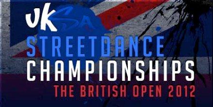 UKSA street dance championships british open logo