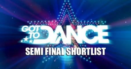 Got to dance shortlist 2013 Series 4